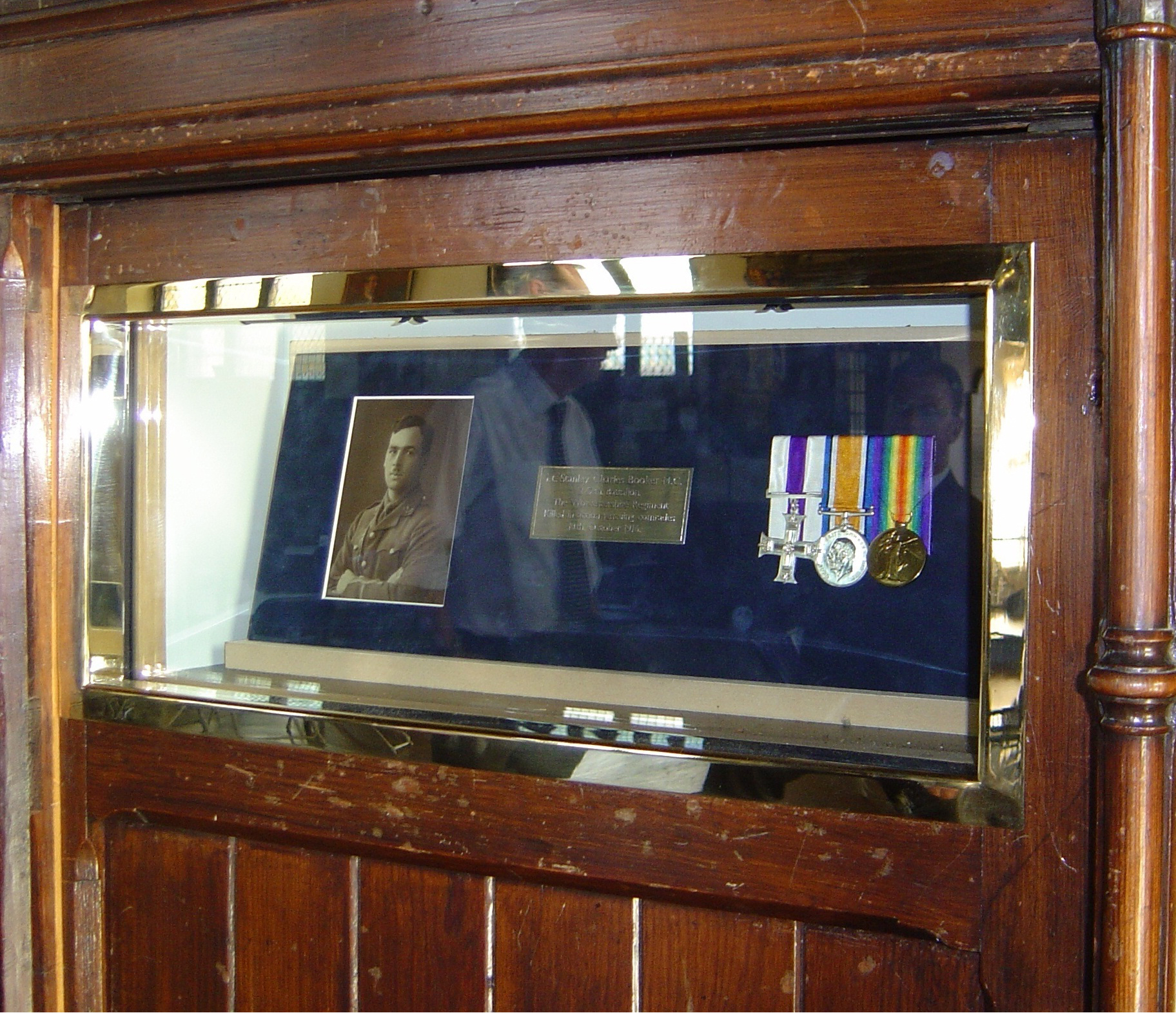 High Security Display Case - Built into existing wooden panelling