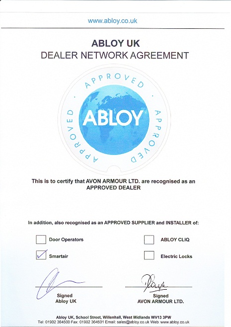 Abloy Approved Dealer