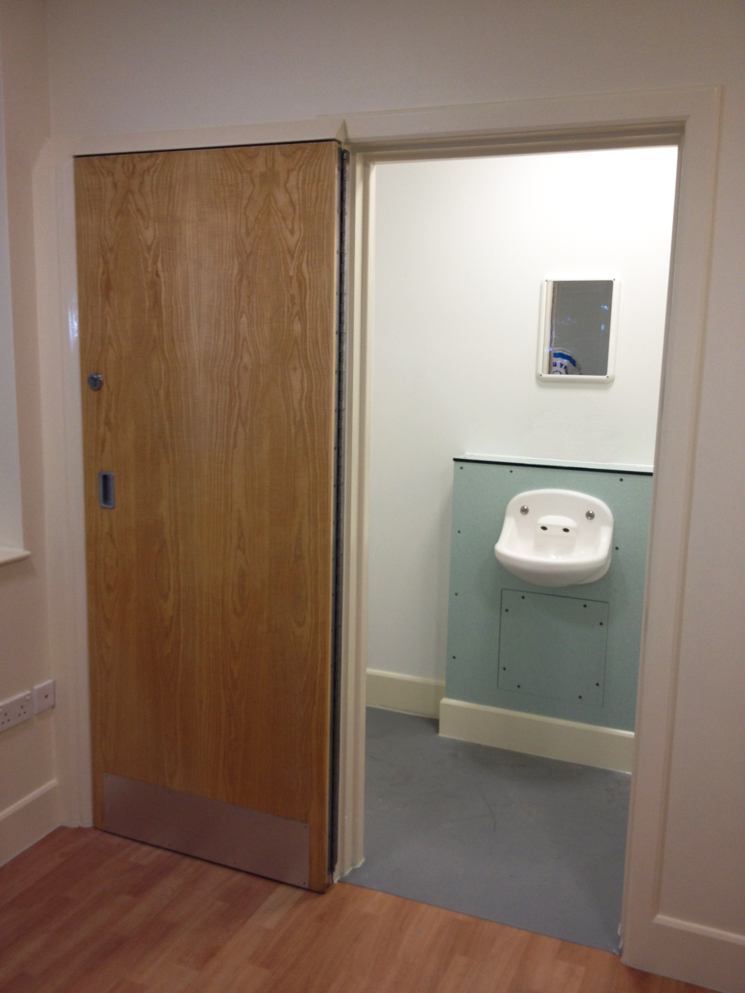 Seclusion Room - 180 Degree Opening and Locking Door - Open ... & Seclusion Room Doors Cell Doors Multipoint Locking Vision Panels