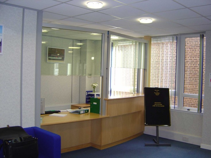 Avon Armour Rising Screens Reception Desks Police
