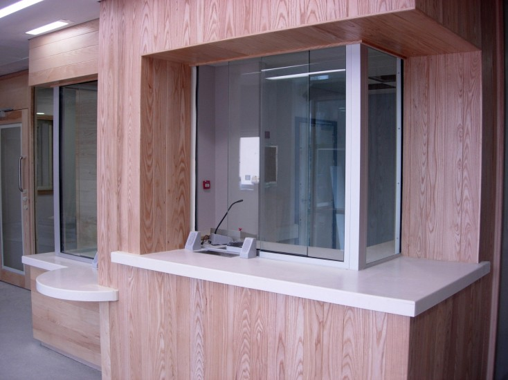 Police Station - Sliding Screens and Corian Counters