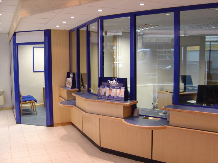 Building Society Counter & Screen