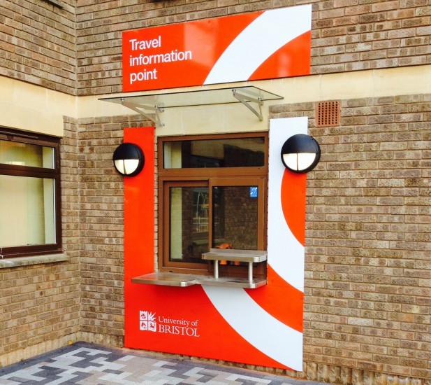 Bristol University - External Counter & Security Screen