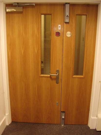 Office Security Door - Internal View