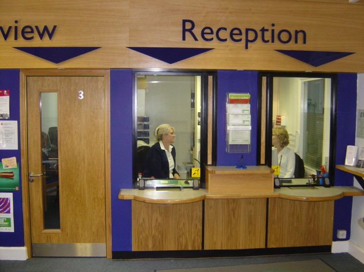 Council Reception Counter, Screen & Security Door