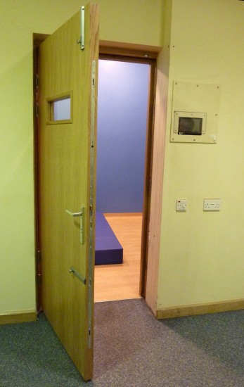 Seclusion Room - External View - Showing Locking