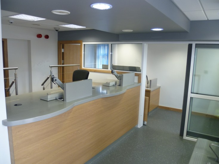 Police Station - Corian Counters and Automatic Doors