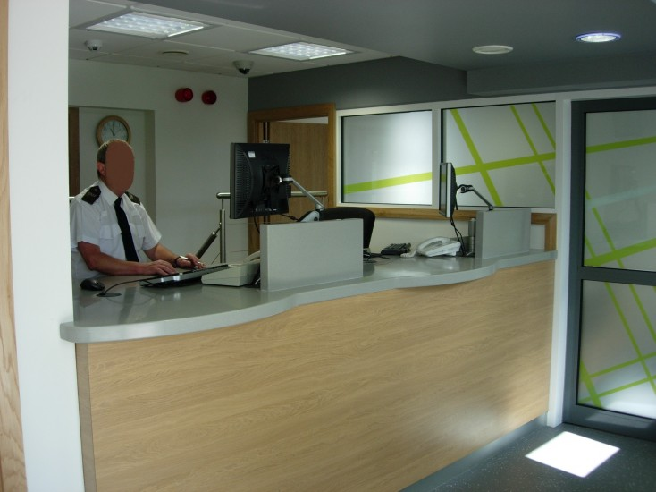 Corian Reception Counter - Police Station