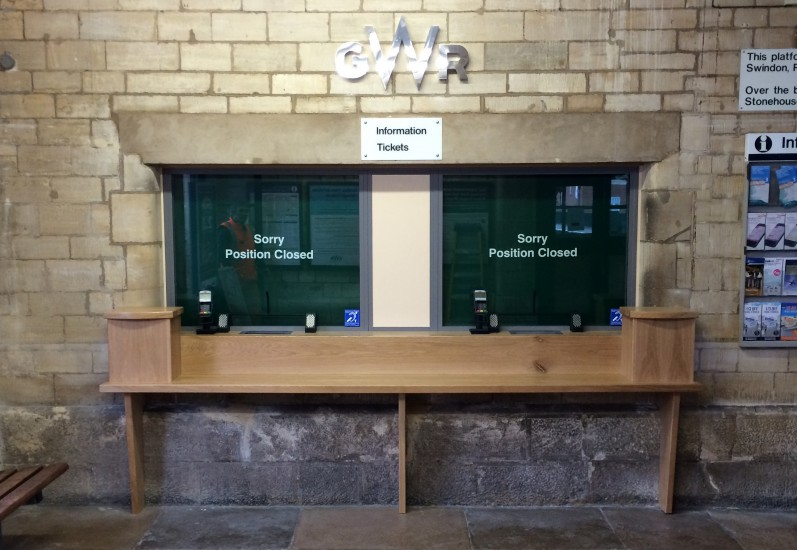 Railway Station Ticket Office - Counter & Screen