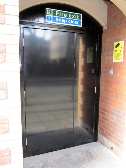 Steel Door with Internal Panic Escape Locking