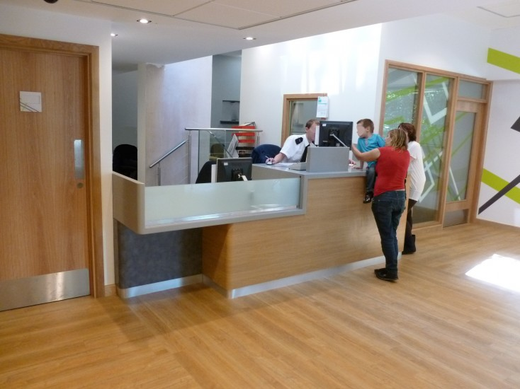 Police Station - Reception with Corian Counter